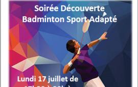 Soirée découverte badminton sport adapté