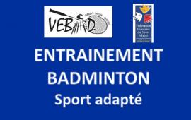 Ouverture créneau badminton sport adapté