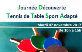 Journée découverte tennis de table sport adapté