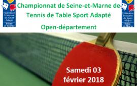 Championnat Départemental tennis de table SA 77